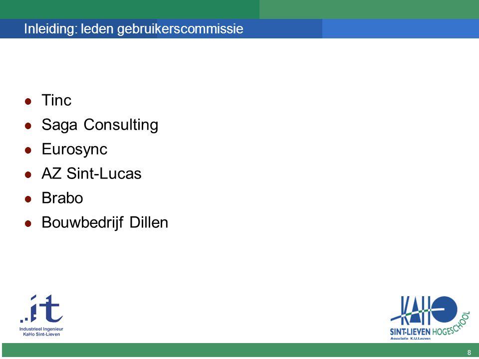 9 DINGO Inleiding: doel gebruikerscommissie De project partners /geïnteresseerden op de hoogte houden moment voor feedback