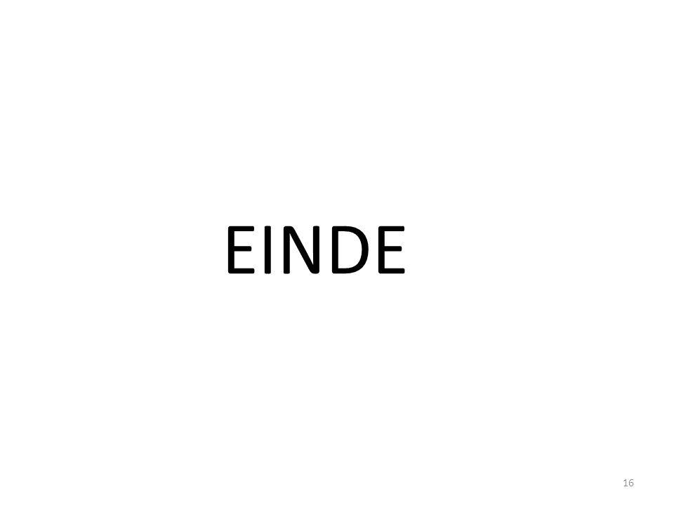 EINDE 16