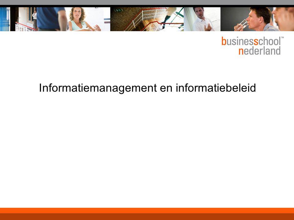 Informatiemanagement en informatiebeleid