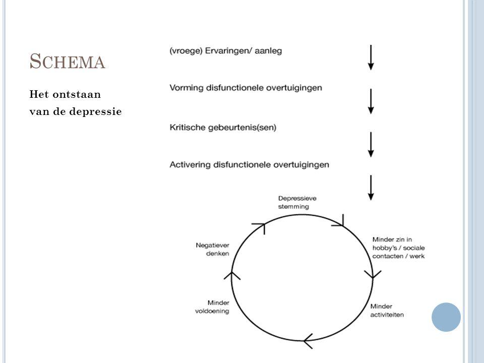 S CHEMA Het ontstaan van de depressie