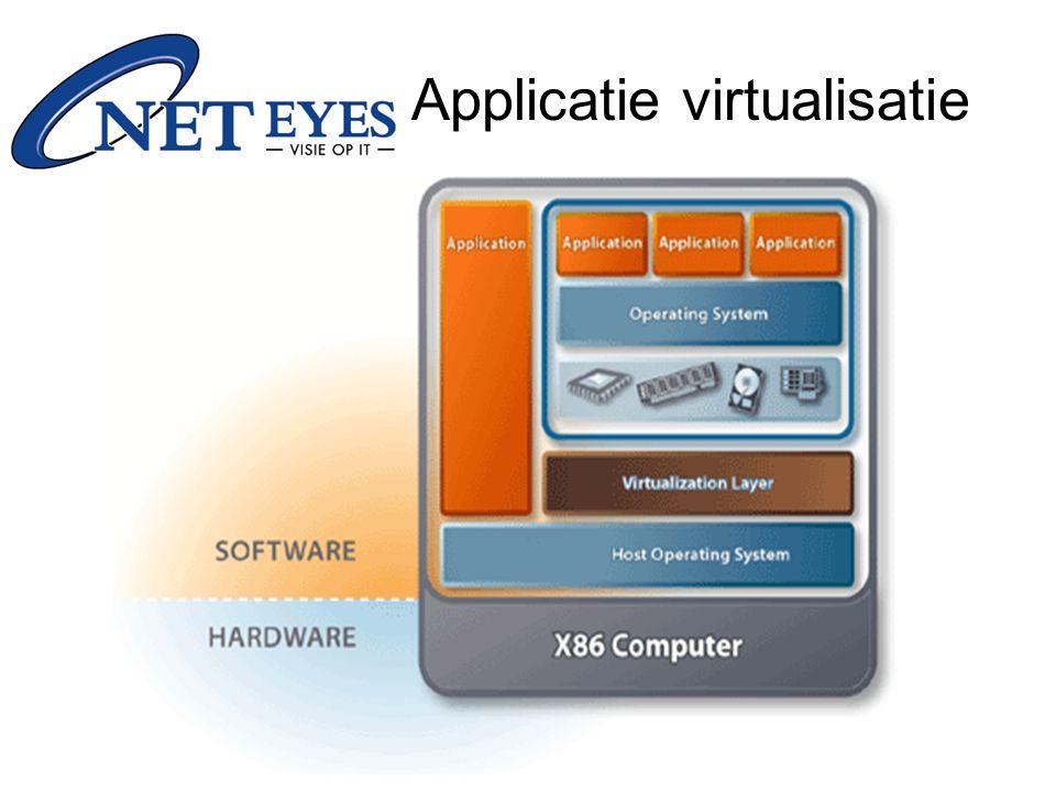 Terminal –Microsoft Terminal Server –Citrix Metaframe Presentation server –Open Source: NX for Linux Applicatie virtualisatie
