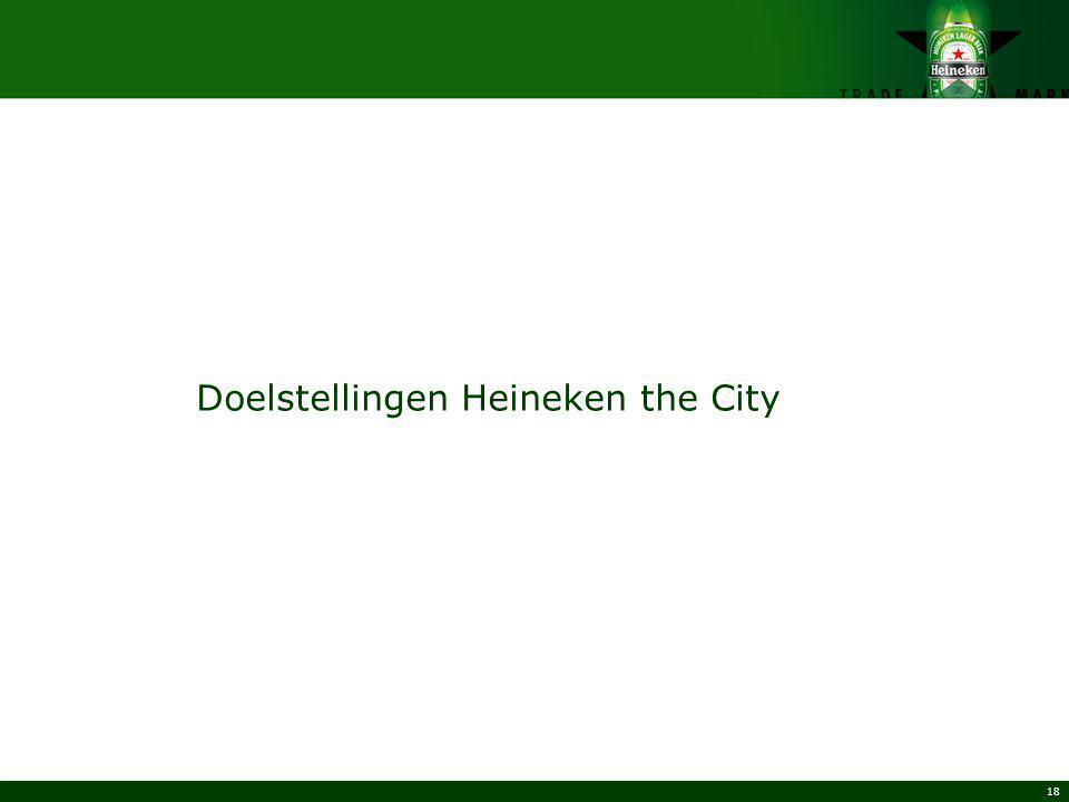 18 Doelstellingen Heineken the City