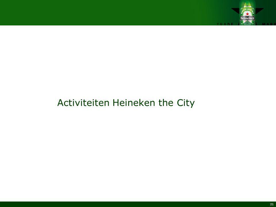 21 Activiteiten Heineken the City