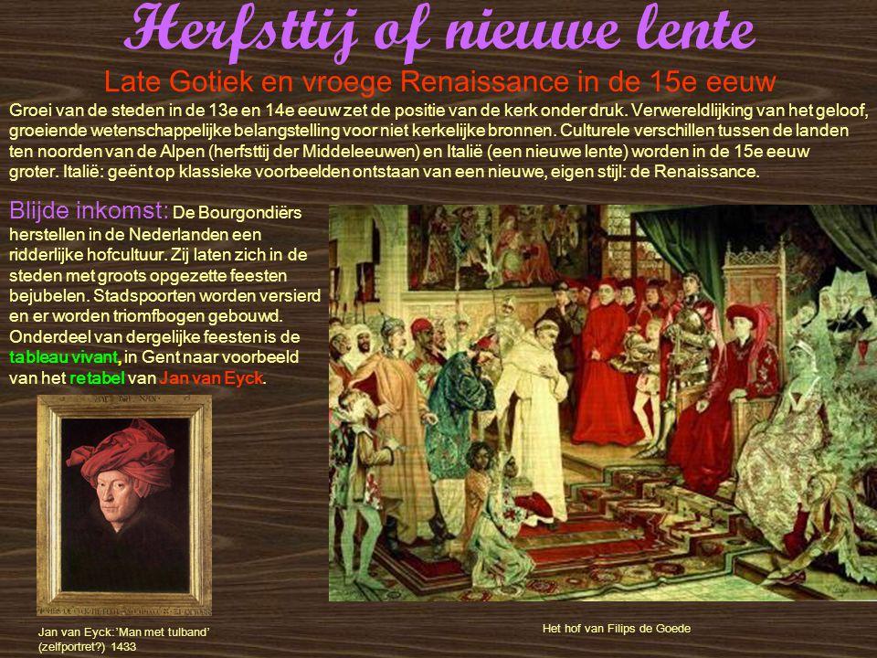 Herfsttij of nieuwe lente Retabel: De aanbidding van het Lam Gods in de St.