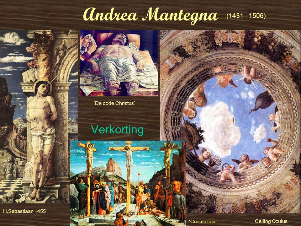 Andrea Mantegna ' Crucifiction ' H.Sebastiaan 1455 (1431 – 1506) ' De dode Christus ' Verkorting Ceiling Oculus