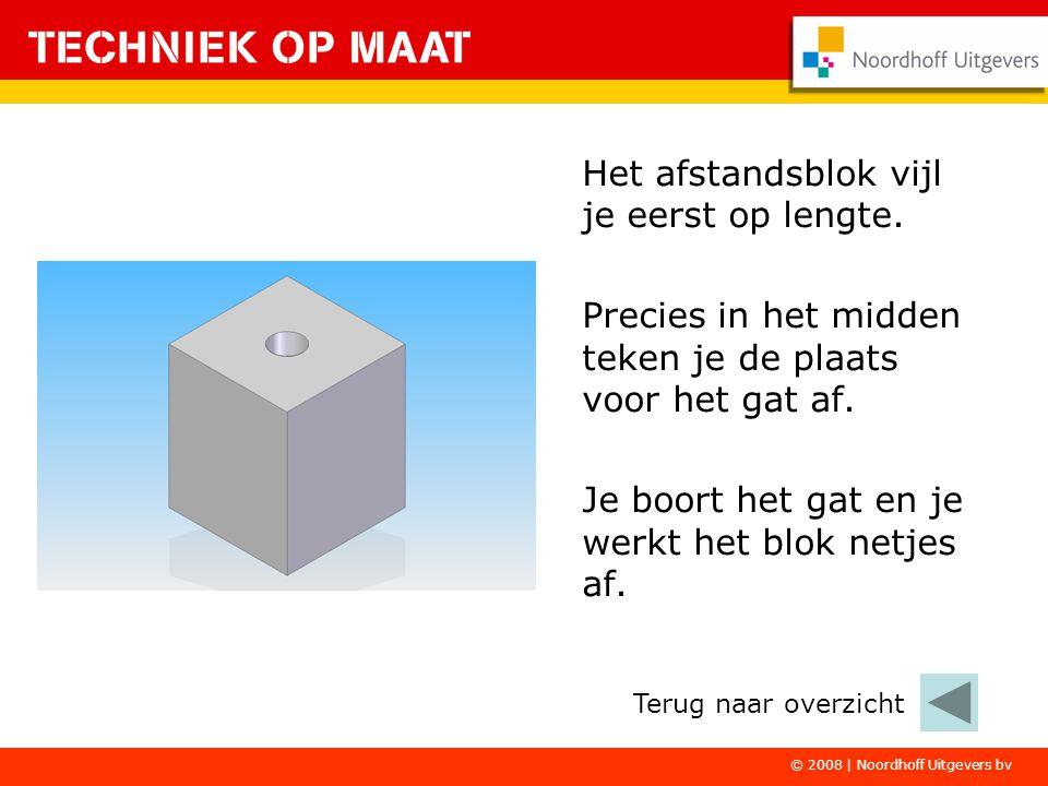 © 2008 | Noordhoff Uitgevers bv Het afstandsblok vijl je eerst op lengte.