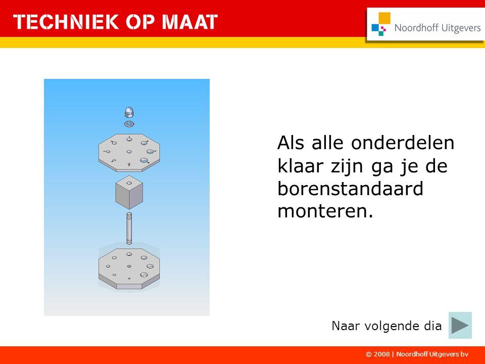 Succes bij het maken van de borenstandaard. © 2008 | Noordhoff Uitgevers bv