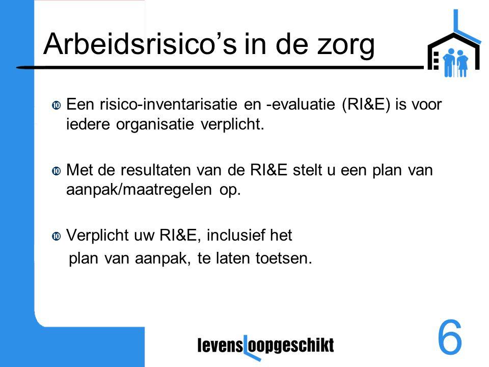 7 Arbeidshygiënische strategie  Risico's moeten zoveel mogelijk aan de bron worden weggenomen.