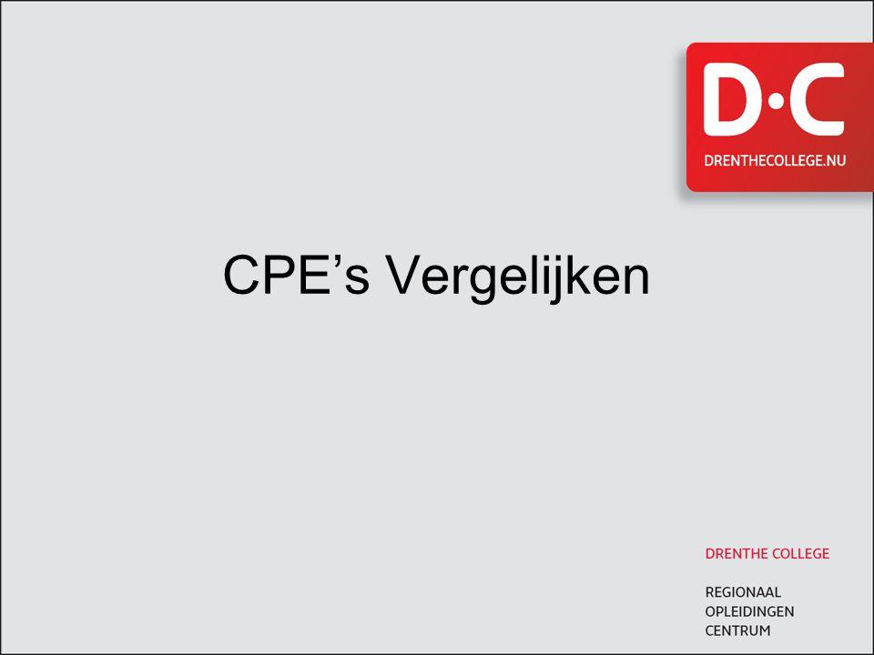CPE's Vergelijken