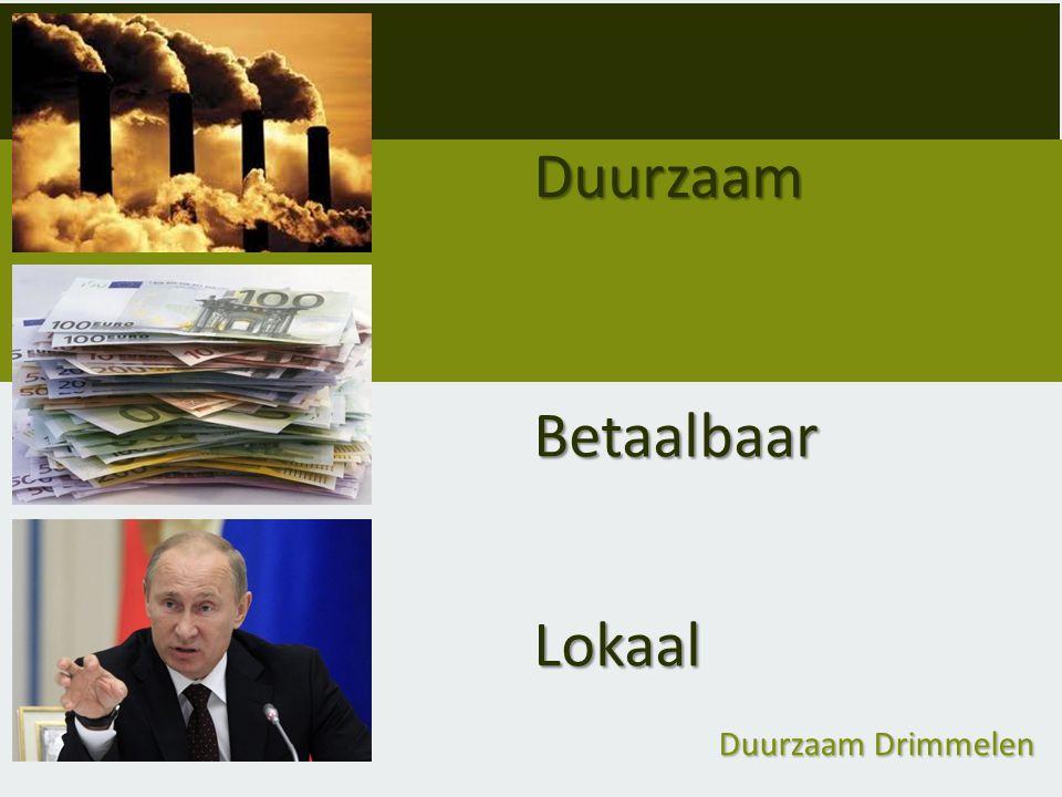 Duurzaam Drimmelen Helder & transparant: - Je gaat zelf uiteindelijk een verplichting/contract aan met de installateur.