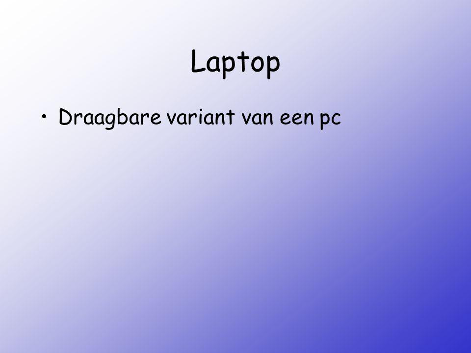 Laptop Draagbare variant van een pc
