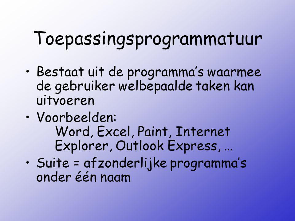 Systeem- of toepassingsprogrammatuur.Een programma waarmee je op het Internet kunt surfen (bv.