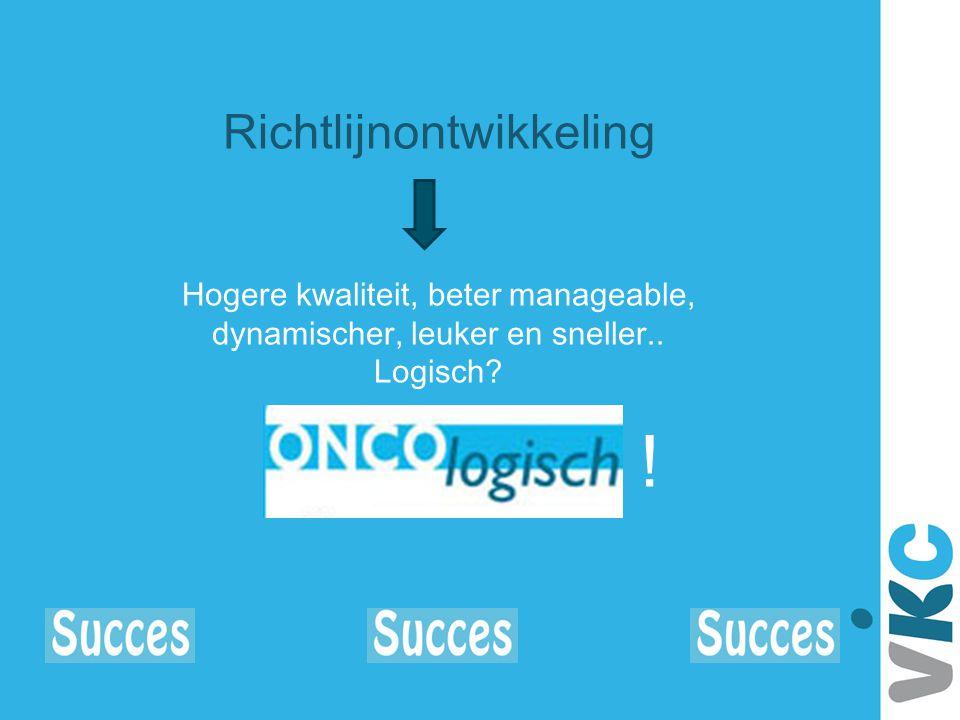 Richtlijnontwikkeling Hogere kwaliteit, beter manageable, dynamischer, leuker en sneller.. Logisch? !