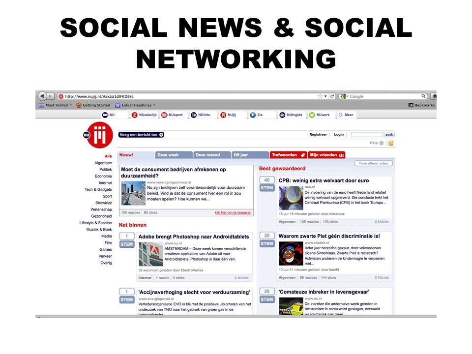 SOCIAL NEWS & SOCIAL NETWORKING