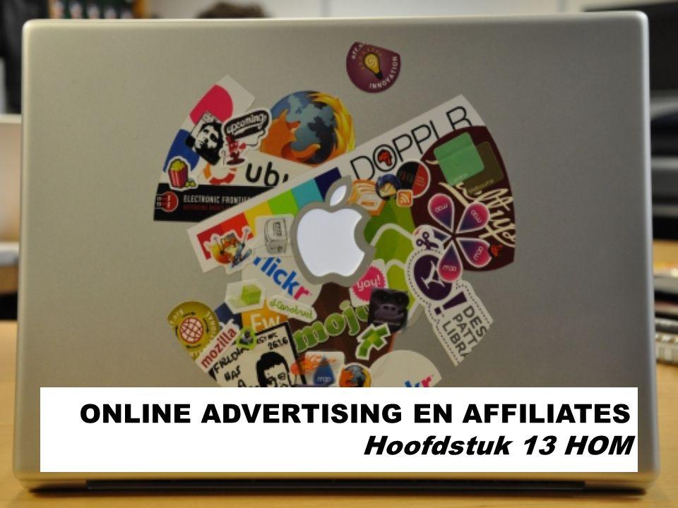 ONLINE ADVERTISING EN AFFILIATES Hoofdstuk 13 HOM