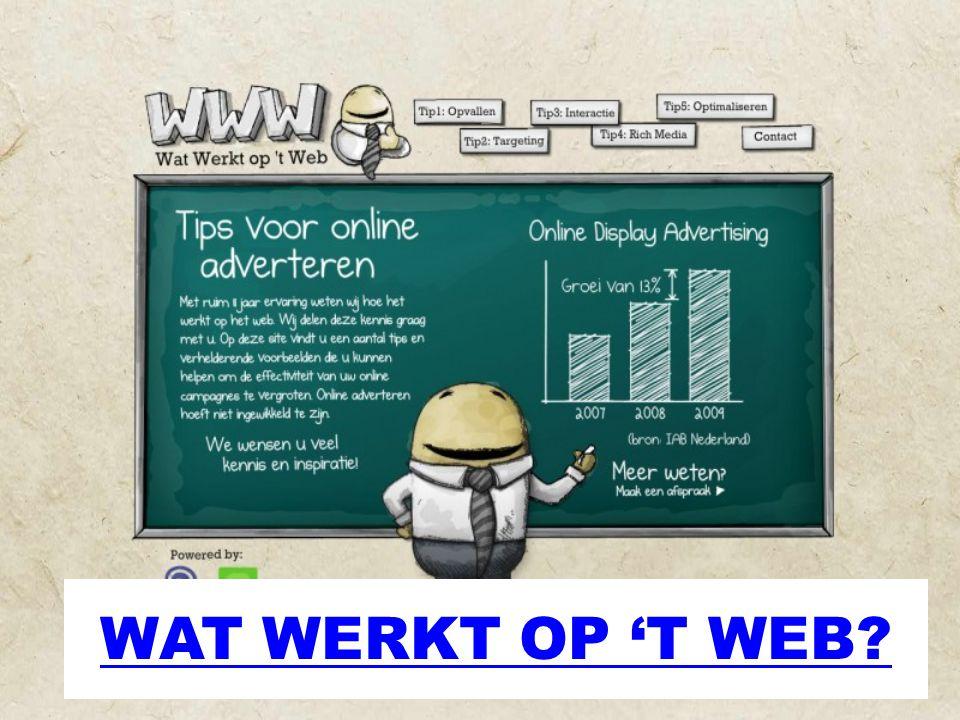 WAT WERKT OP 'T WEB?