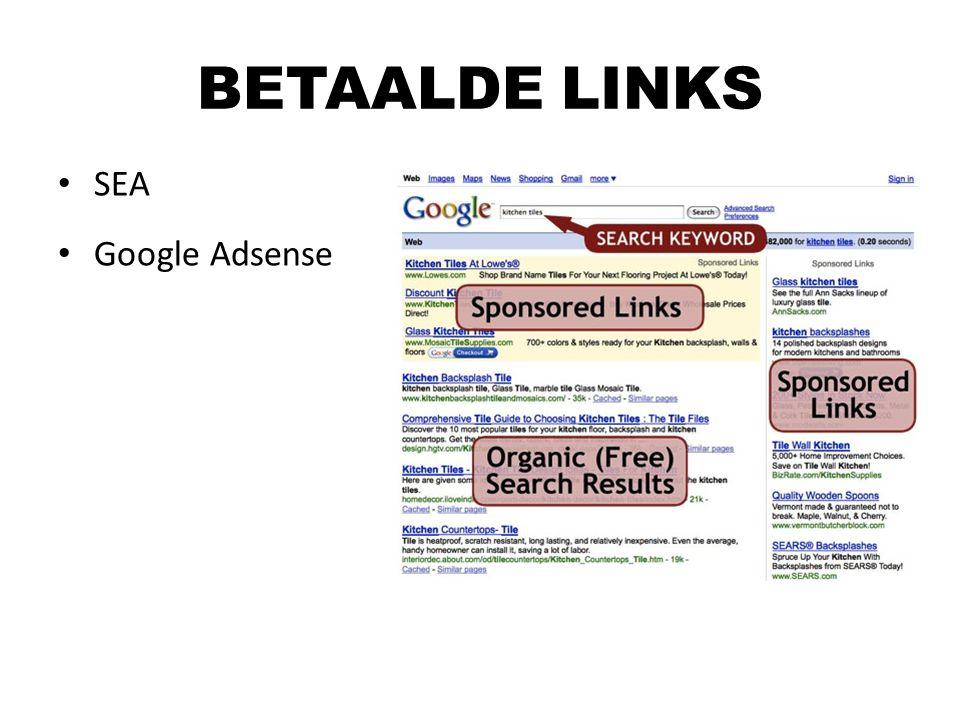 SEA Google Adsense BETAALDE LINKS
