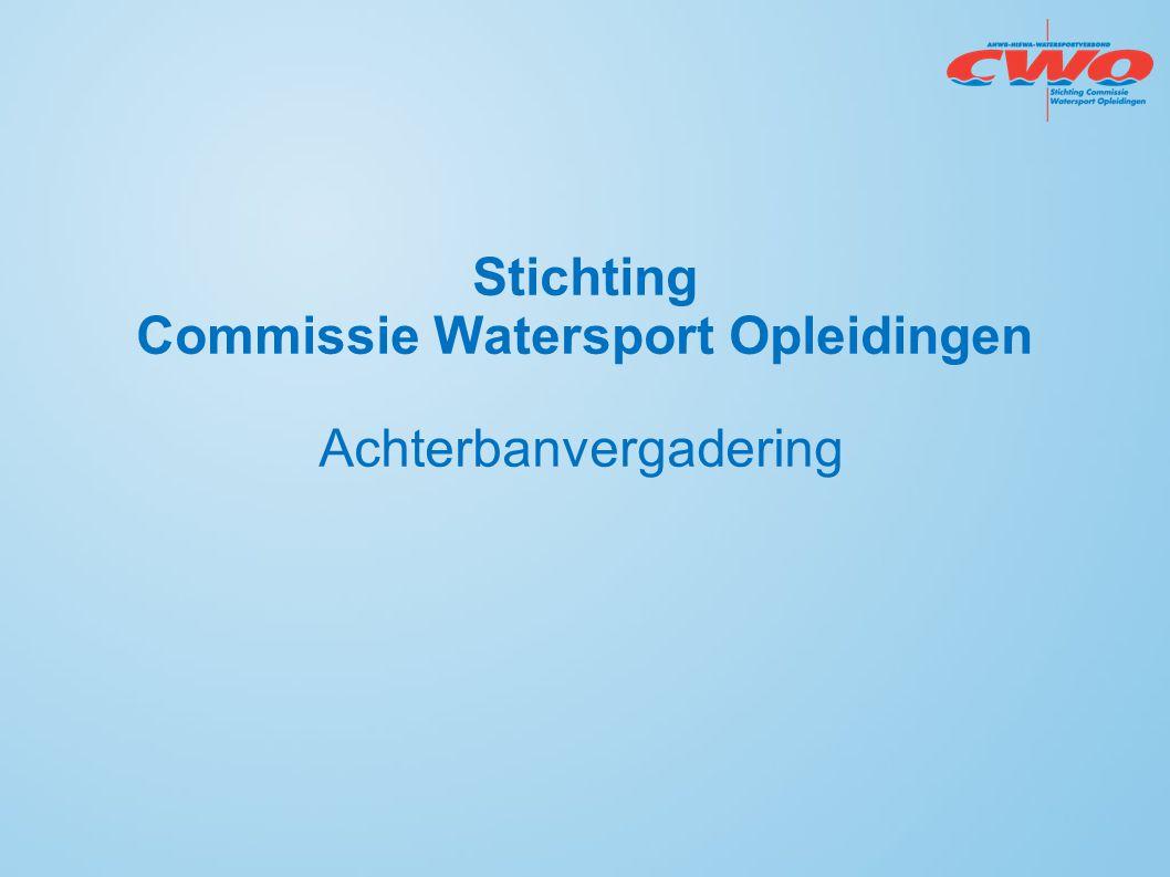 Stichting Commissie Watersport Opleidingen Achterbanvergadering