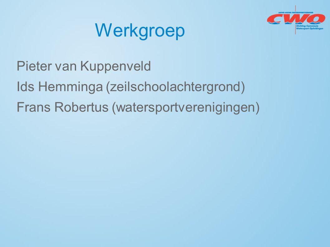 Werkgroep Pieter van Kuppenveld Ids Hemminga (zeilschoolachtergrond) Frans Robertus (watersportverenigingen)