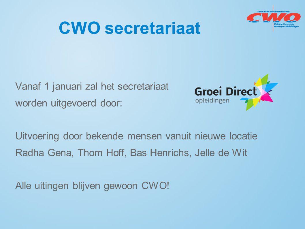 Vanaf 1 januari zal het secretariaat worden uitgevoerd door: Uitvoering door bekende mensen vanuit nieuwe locatie Radha Gena, Thom Hoff, Bas Henrichs,