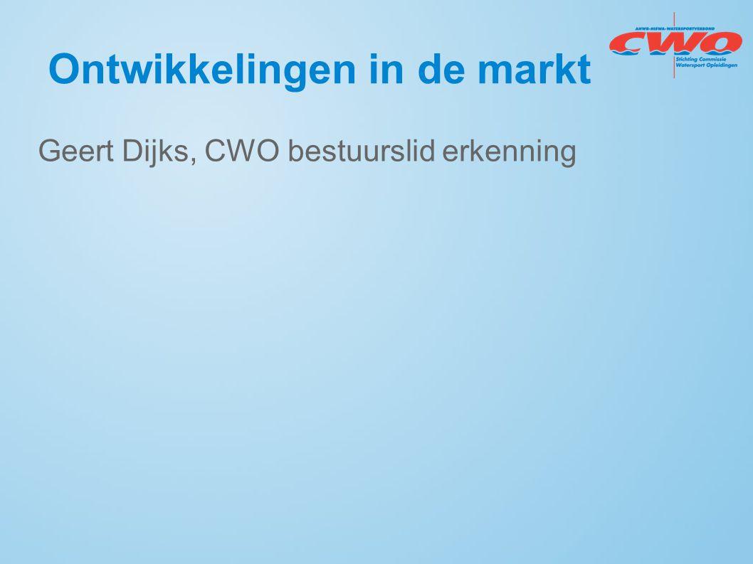 Ontwikkelingen in de markt Geert Dijks, CWO bestuurslid erkenning