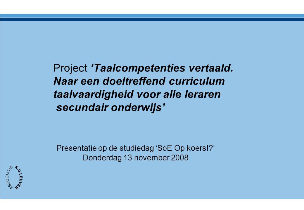 Inhoud Presentatie Probleemstelling, opzet en inhoud van het project (A.