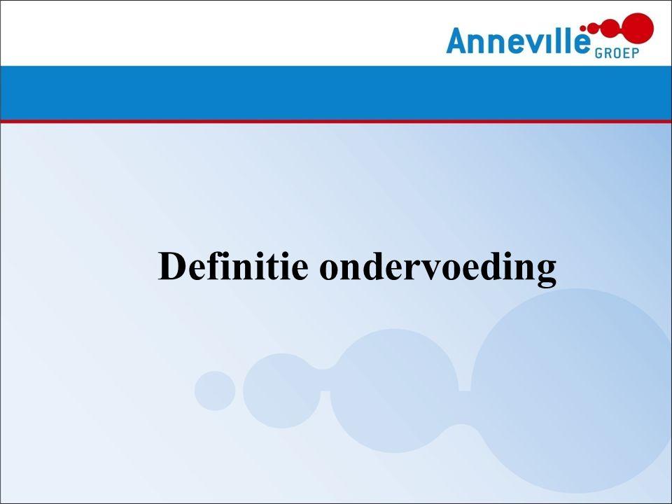 Op dit moment bestaat er géén eenduidige definitie van ondervoeding.