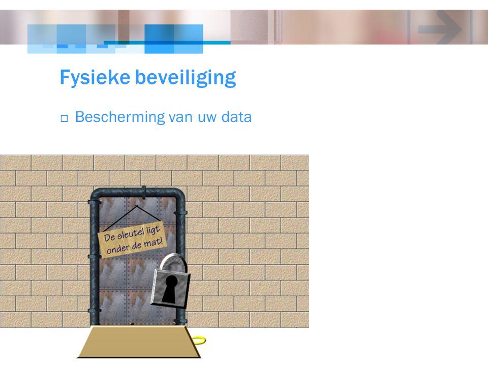 Fysieke beveiliging  Bescherming van uw data