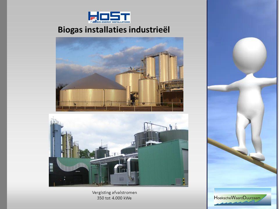 Biogas installaties industrieël Vergisting afvalstromen 350 tot 4.000 kWe