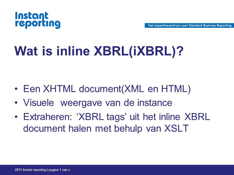 Wat is inline XBRL(iXBRL).