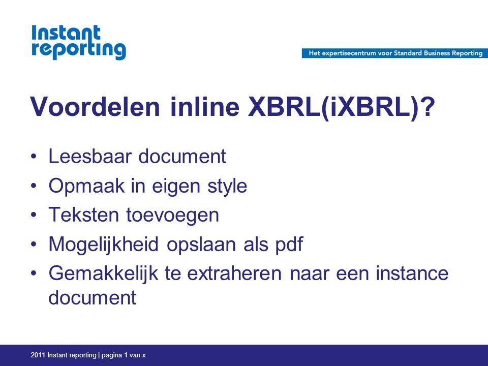Voordelen inline XBRL(iXBRL).