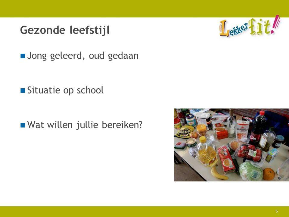 16 Informatie www.lekkerfitopschool.nl Toolkit Lekker fit.