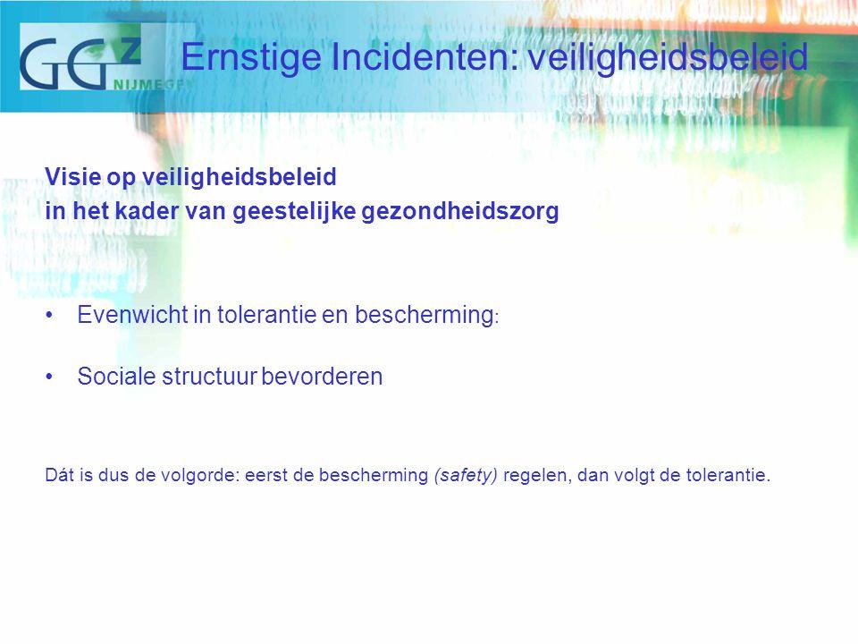Werkwijze Beschikbaar binnen kantoortijden Ondersteunen afdelings en behandelteam bij analyse van het (ernstige) incident Binnen zes weken een Incident Evaluatie Bijeenkomst met tenminste twee leden van de commissie.