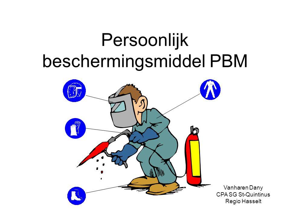 Persoonlijk beschermingsmiddel PBM Vanharen Dany CPA SG St-Quintinus Regio Hasselt