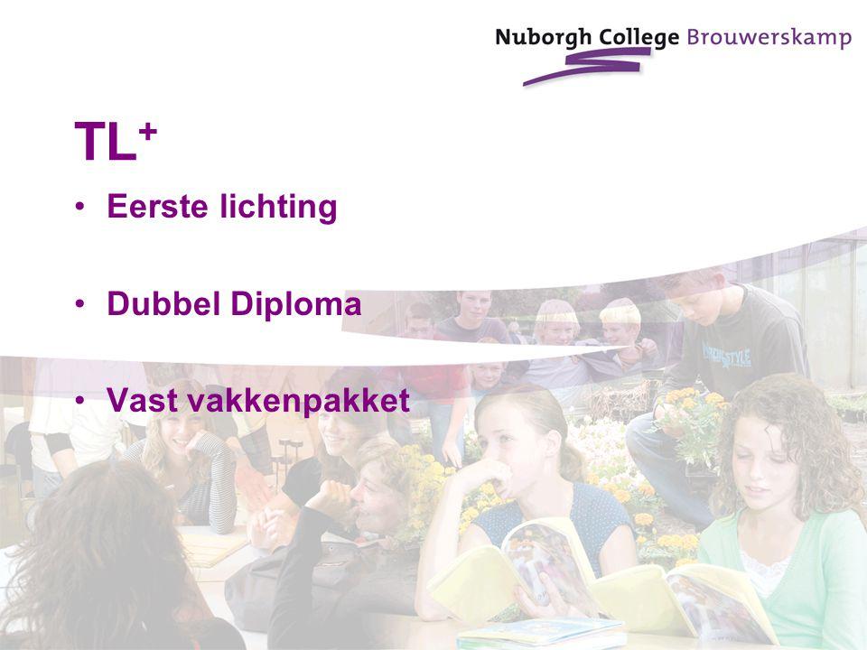 TL + Eerste lichting Dubbel Diploma Vast vakkenpakket