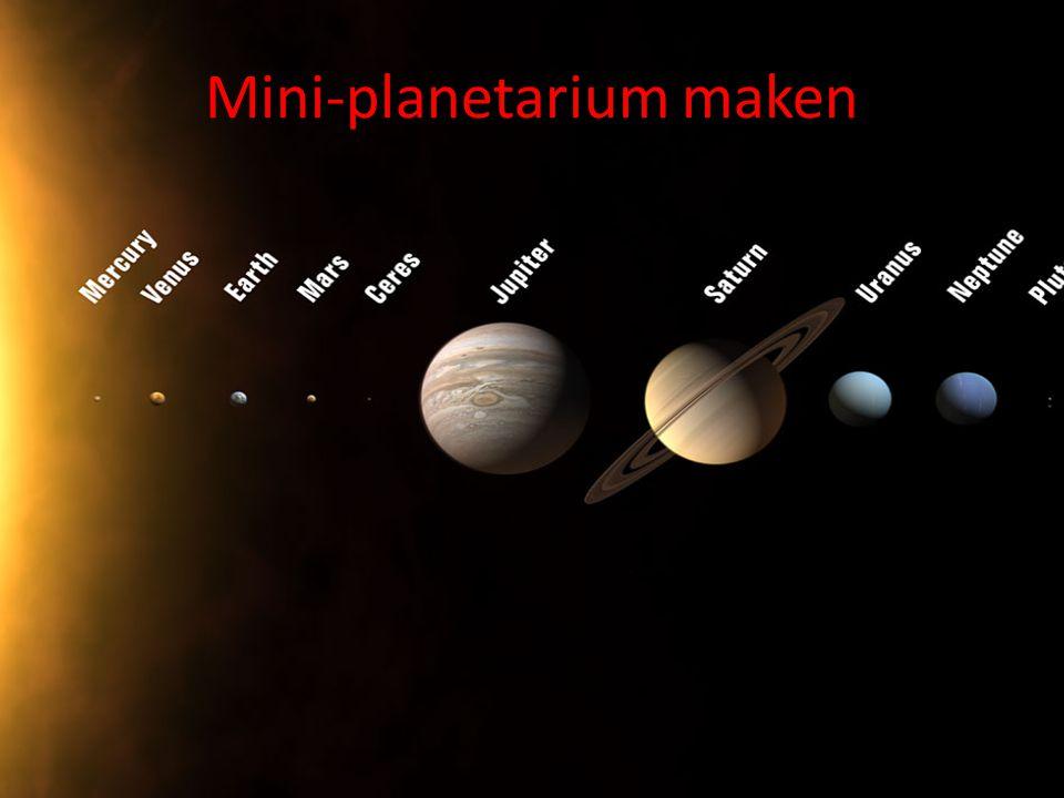 Mini-planetarium maken