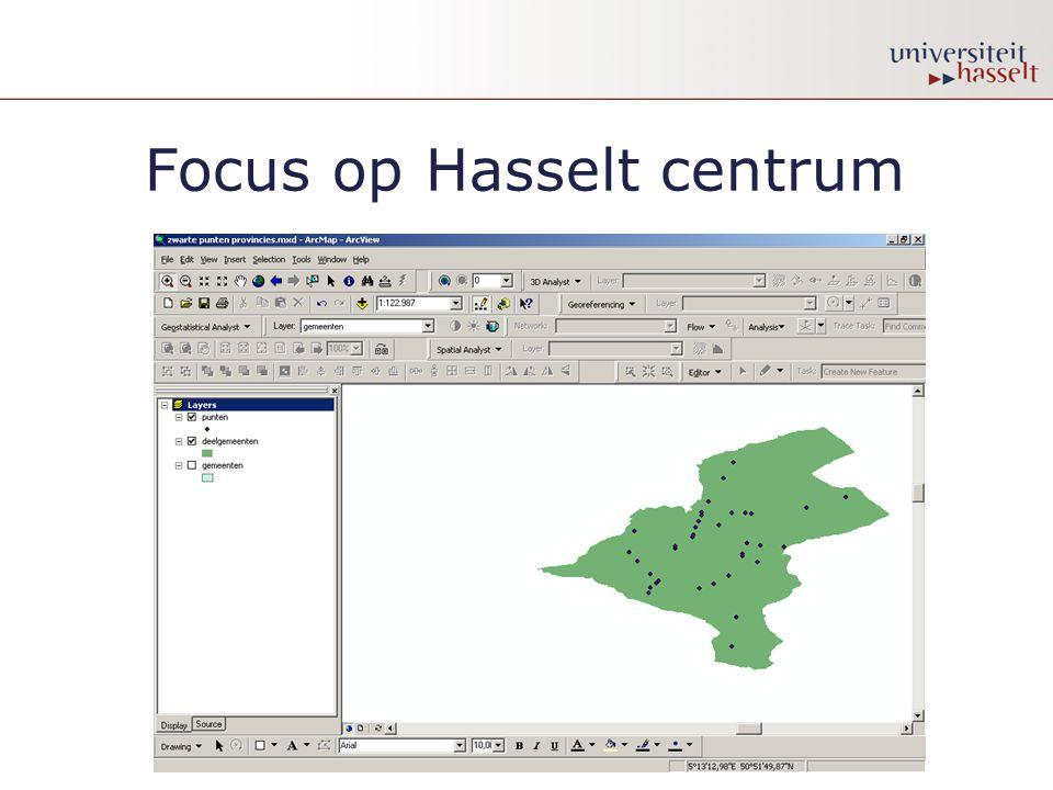 Focus op Hasselt centrum