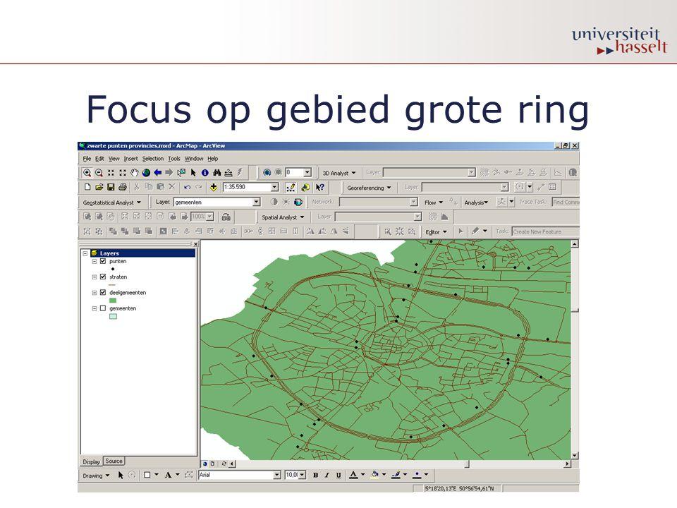 Focus op gebied grote ring