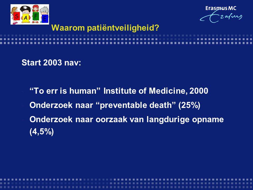 Safety First reports -Resultaten 2005: -- aantal meldingen1600 (gem.