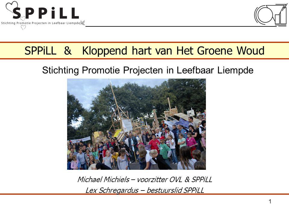 SPPiLL & Kloppend hart van Het Groene Woud Michael Michiels – voorzitter OVL & SPPiLL Lex Schregardus – bestuurslid SPPiLL 1 Stichting Promotie Projec