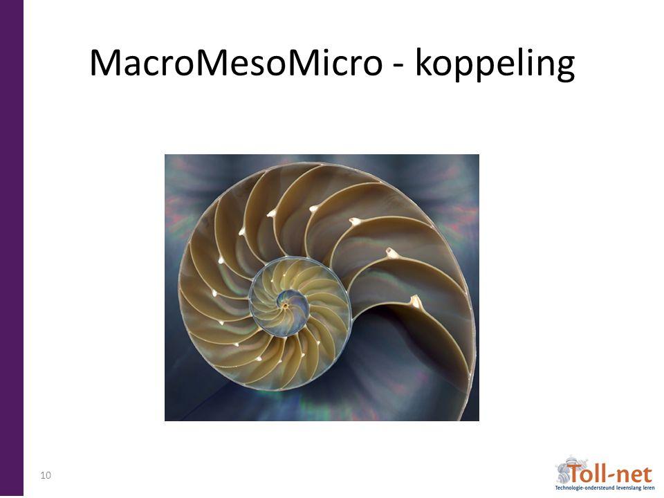MacroMesoMicro - koppeling 10