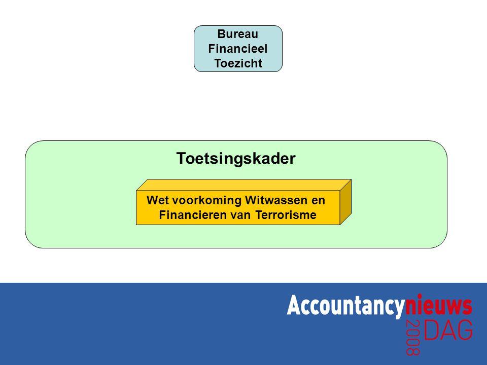 Toetsingskader Bureau Financieel Toezicht Wet voorkoming Witwassen en Financieren van Terrorisme