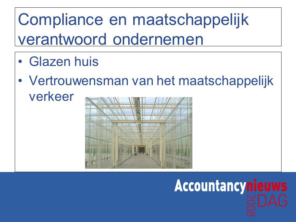 Jaarplan 2 Verdere implementatie compliance Administratieve organisatie en interne beheersingsprocessen Beheersen risico's Compliancetest medewerkers en vennoten Opleiden medewerkers met betrekking tot houding en gedrag