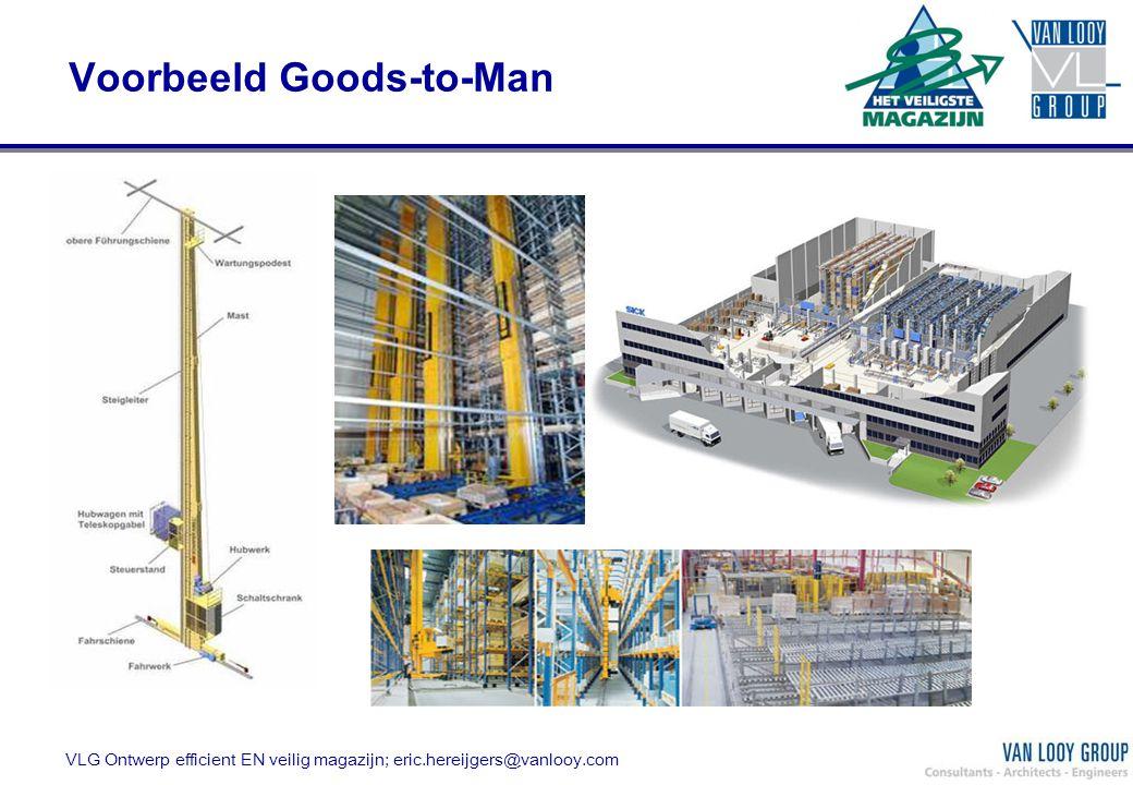 VLG Ontwerp efficient EN veilig magazijn; eric.hereijgers@vanlooy.com Voorbeeld Goods-to-Man