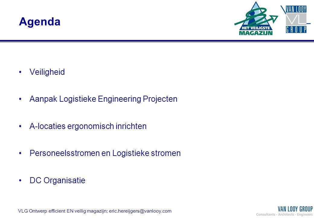Agenda Veiligheid Aanpak Logistieke Engineering Projecten A-locaties ergonomisch inrichten Personeelsstromen en Logistieke stromen DC Organisatie VLG