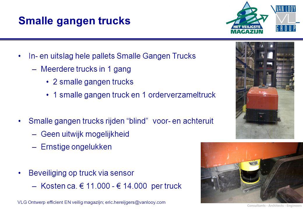 Smalle gangen trucks In- en uitslag hele pallets Smalle Gangen Trucks –Meerdere trucks in 1 gang 2 smalle gangen trucks 1 smalle gangen truck en 1 ord
