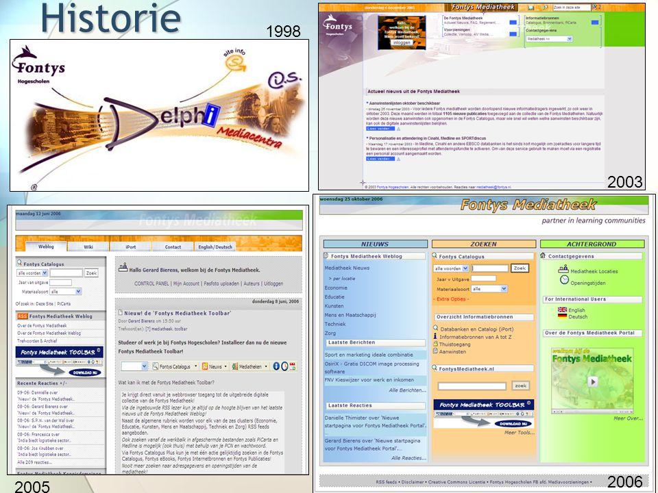 Historie 1998 2003 2005 2006