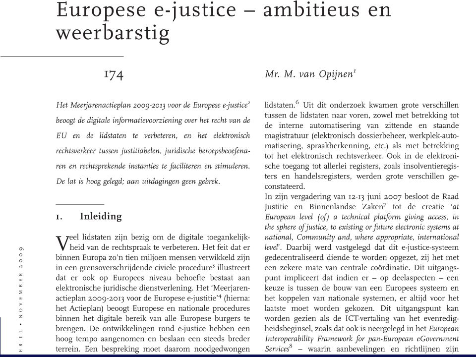 4 23-06-2011Europese e-Justice