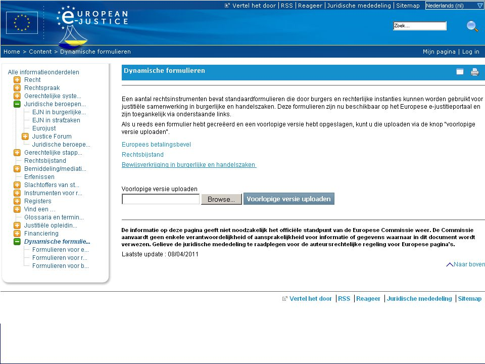 7 23-06-2011Europese e-Justice