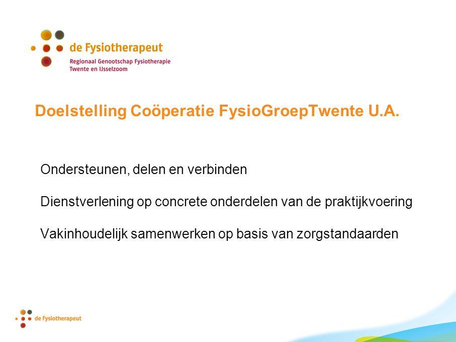 Doelstelling Coöperatie FysioGroepTwente U.A.